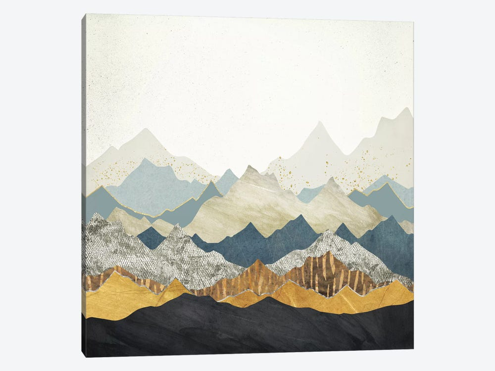Distant Peaks by SpaceFrog Designs 1-piece Canvas Print