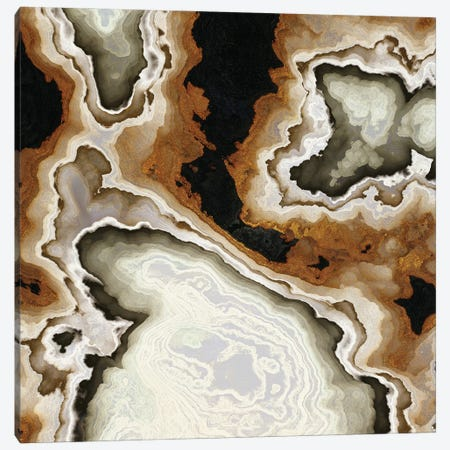 Ivory Agate Abstract Canvas Print #SFD361} by SpaceFrog Designs Canvas Wall Art