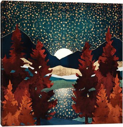 Star Sky Reflection Canvas Art Print