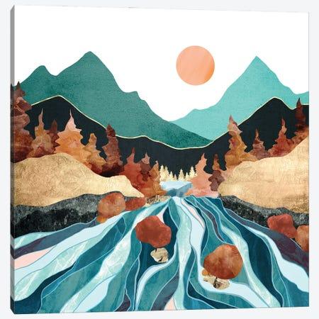 Blue River Canvas Print #SFD364} by SpaceFrog Designs Art Print
