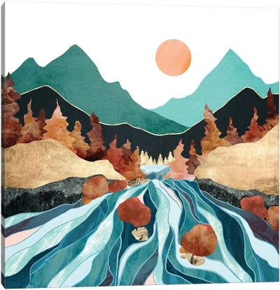 Blue River Canvas Art Print