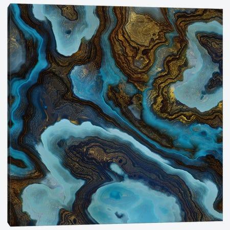 Blue Agate Canvas Print #SFD367} by SpaceFrog Designs Canvas Art Print