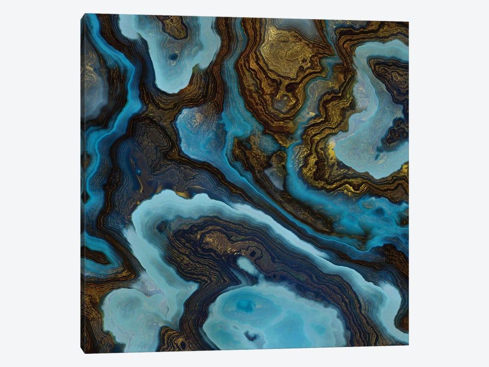 Blue Agate by SpaceFrog Designs 1-piece Canvas Artwork