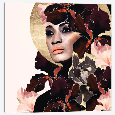 Floral Portrait I Canvas Print #SFD376} by SpaceFrog Designs Canvas Artwork