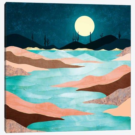 Desert Reservoir Canvas Print #SFD378} by SpaceFrog Designs Canvas Art Print