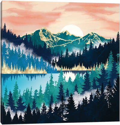 Lake Mist Canvas Art Print
