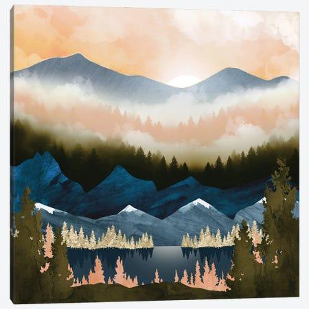 Dusk Lake Canvas Print #SFD391} by SpaceFrog Designs Art Print