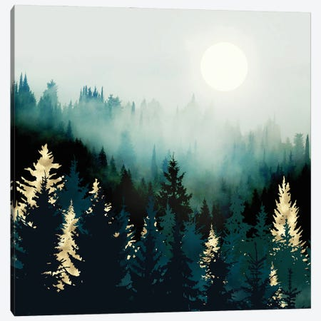 Forest Glow Canvas Print #SFD395} by SpaceFrog Designs Canvas Art