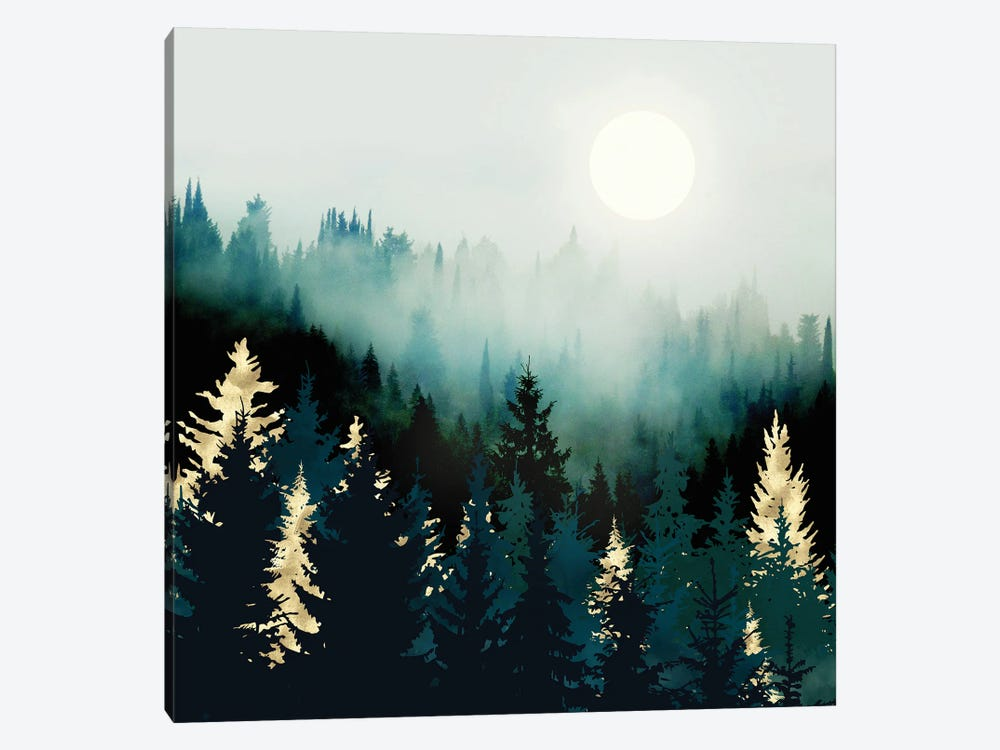 Forest Glow by SpaceFrog Designs 1-piece Art Print