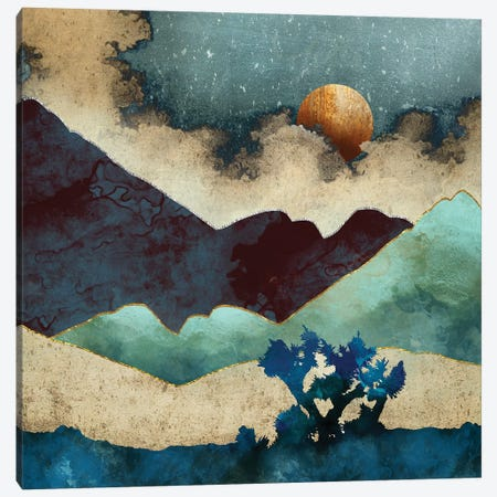 Evening Calm Canvas Print #SFD39} by SpaceFrog Designs Canvas Artwork