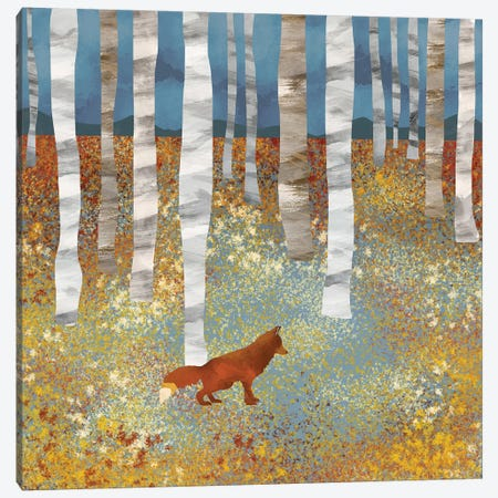 Autumn Fox Canvas Print #SFD3} by SpaceFrog Designs Canvas Artwork