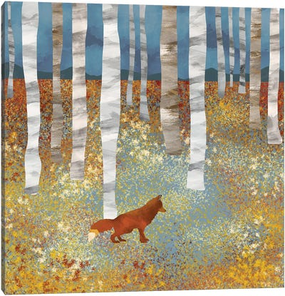 Autumn Fox Canvas Art Print