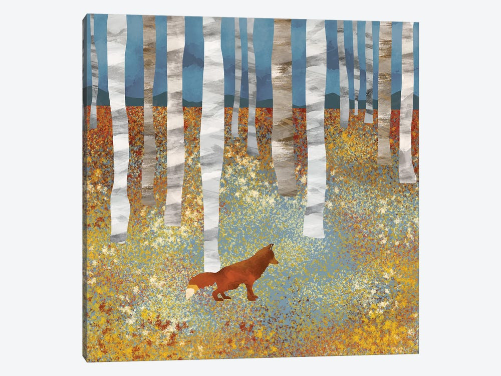 Autumn Fox by SpaceFrog Designs 1-piece Canvas Art