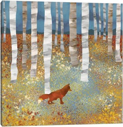 Autumn Fox Canvas Art Print