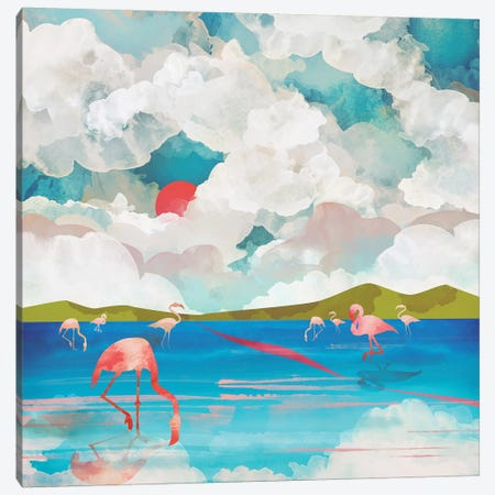 Flamingo Dream Canvas Print #SFD41} by SpaceFrog Designs Canvas Print