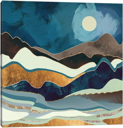 Autumn Hills Canvas Art Print