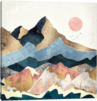 Golden Peaks Canvas Art Print