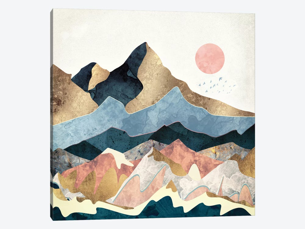 Golden Peaks by SpaceFrog Designs 1-piece Art Print