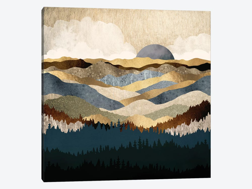 Golden Vista by SpaceFrog Designs 1-piece Art Print