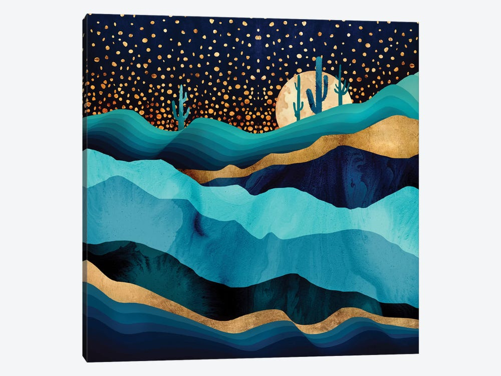 Indigo Desert Night 1-piece Canvas Print