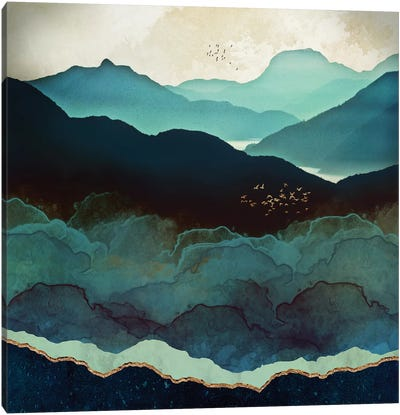 Indigo Mountains Canvas Art Print