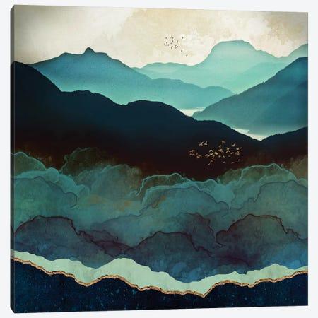 Indigo Mountains Canvas Print #SFD56} by SpaceFrog Designs Canvas Art Print