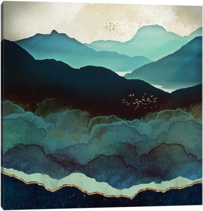 Indigo Mountains Canvas Art Print