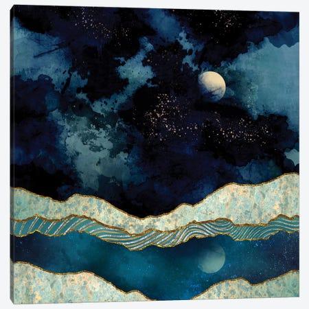 Indigo Sky 3-Piece Canvas #SFD57} by SpaceFrog Designs Canvas Print