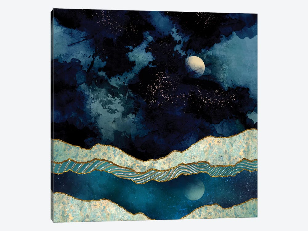 Indigo Sky by SpaceFrog Designs 1-piece Canvas Print