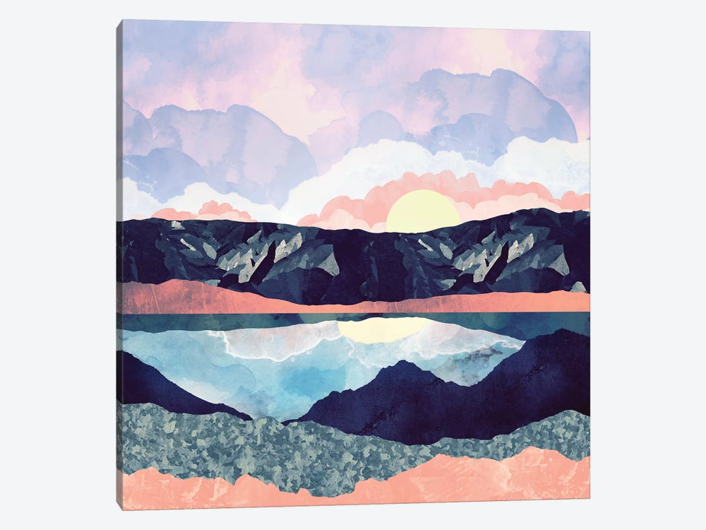 Lake Reflection by SpaceFrog Designs 1-piece Canvas Print
