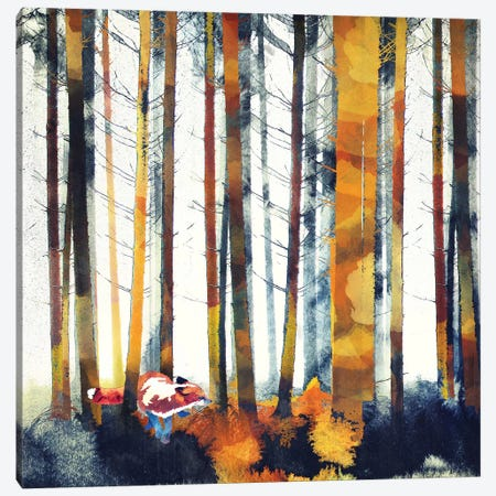 Autumn Hunt Canvas Print #SFD5} by SpaceFrog Designs Canvas Art Print