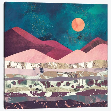 Magenta Mountain Canvas Print #SFD63} by SpaceFrog Designs Canvas Print