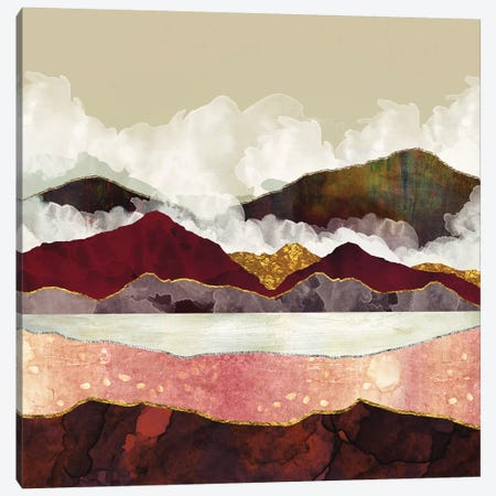 Melon Mountains Canvas Print #SFD64} by SpaceFrog Designs Canvas Artwork