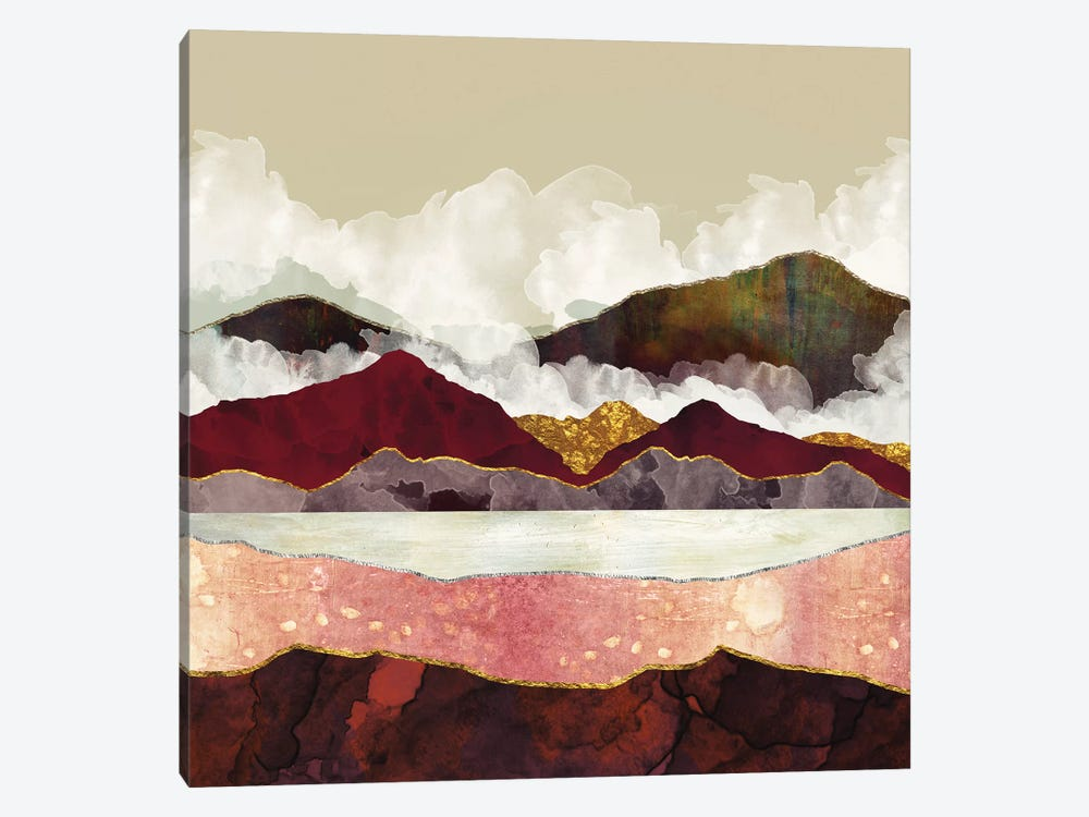 Melon Mountains by SpaceFrog Designs 1-piece Canvas Print