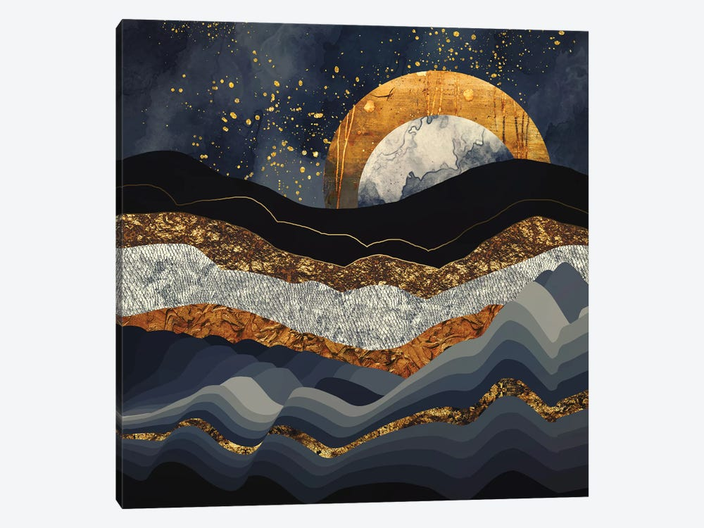 Metallic Mountains by SpaceFrog Designs 1-piece Canvas Art