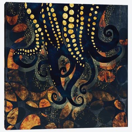 Metallic Ocean I Canvas Print #SFD68} by SpaceFrog Designs Art Print