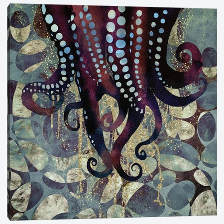 Metallic Ocean II Canvas Print #SFD69} by SpaceFrog Designs Canvas Art Print