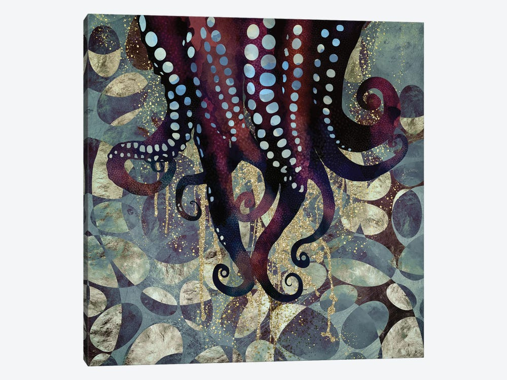 Metallic Ocean II by SpaceFrog Designs 1-piece Canvas Artwork
