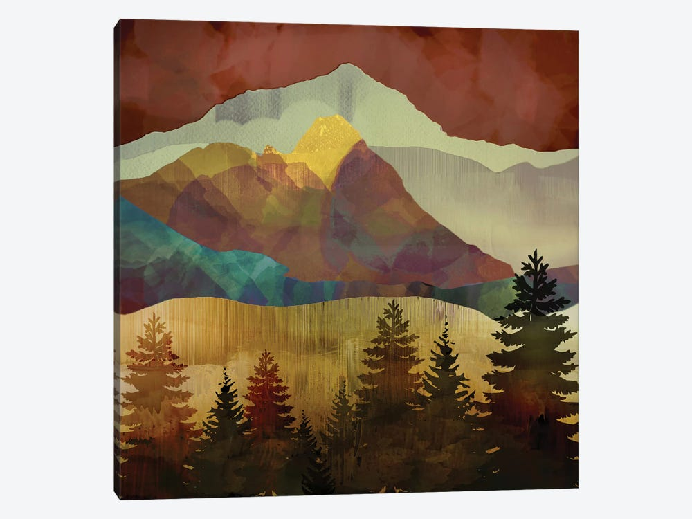 Autumn Trees by SpaceFrog Designs 1-piece Canvas Print