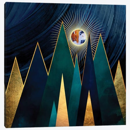 Metallic Peaks Canvas Print #SFD70} by SpaceFrog Designs Canvas Artwork