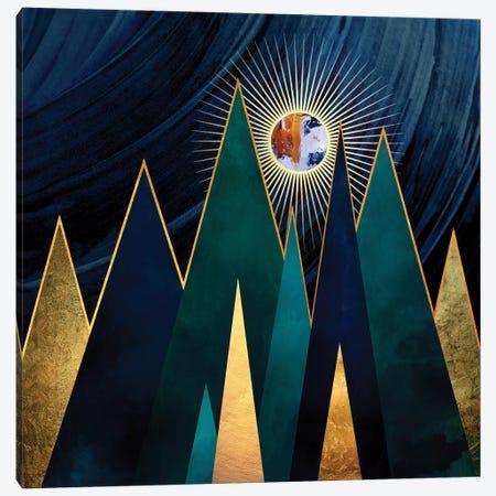 Metallic Peaks Canvas Print #SFD70} by SpaceFrog Designs Canvas Artwork