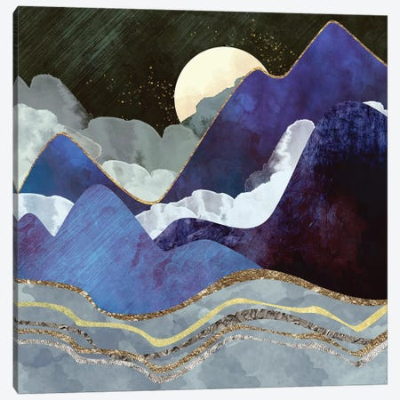 Midnight Canvas Print #SFD72} by SpaceFrog Designs Canvas Art