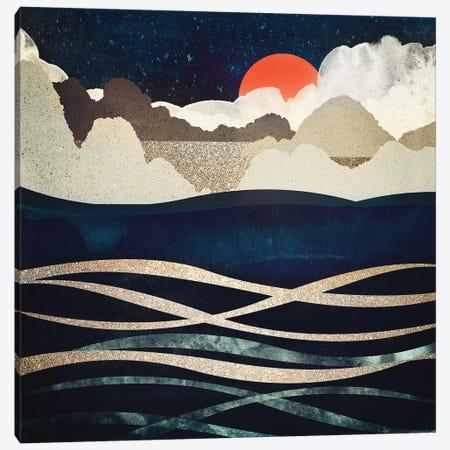 Midnight Beach Canvas Print #SFD73} by SpaceFrog Designs Canvas Artwork
