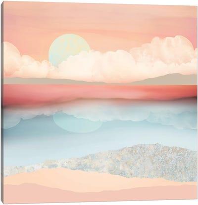 Mint Moon Beach Canvas Art Print