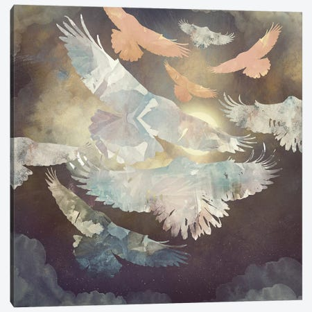 Moonlight Flight Canvas Print #SFD77} by SpaceFrog Designs Art Print