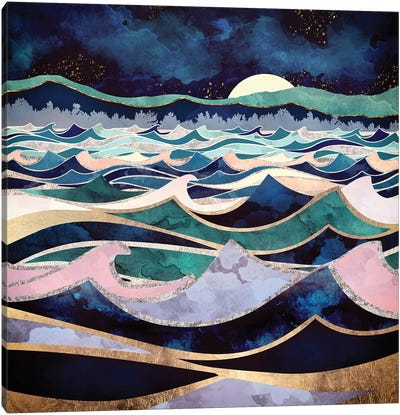 Moonlit Ocean Canvas Art Print
