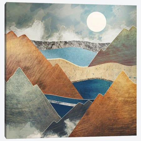 Mountain Pass 3-Piece Canvas #SFD81} by SpaceFrog Designs Canvas Art Print