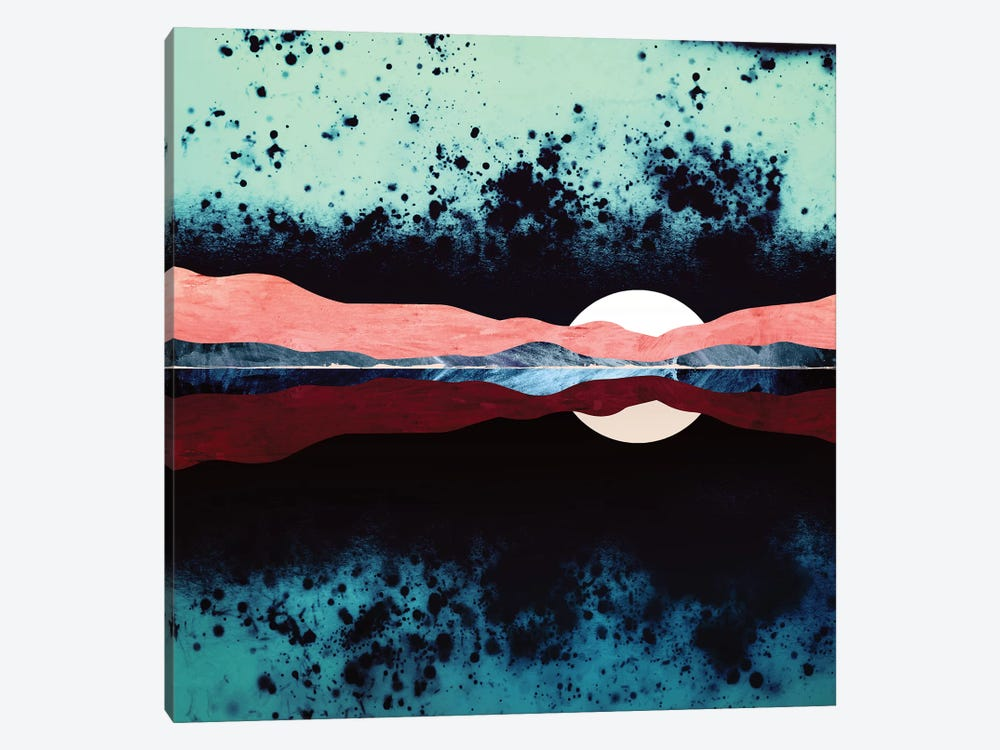 Night Sky Reflection by SpaceFrog Designs 1-piece Canvas Wall Art