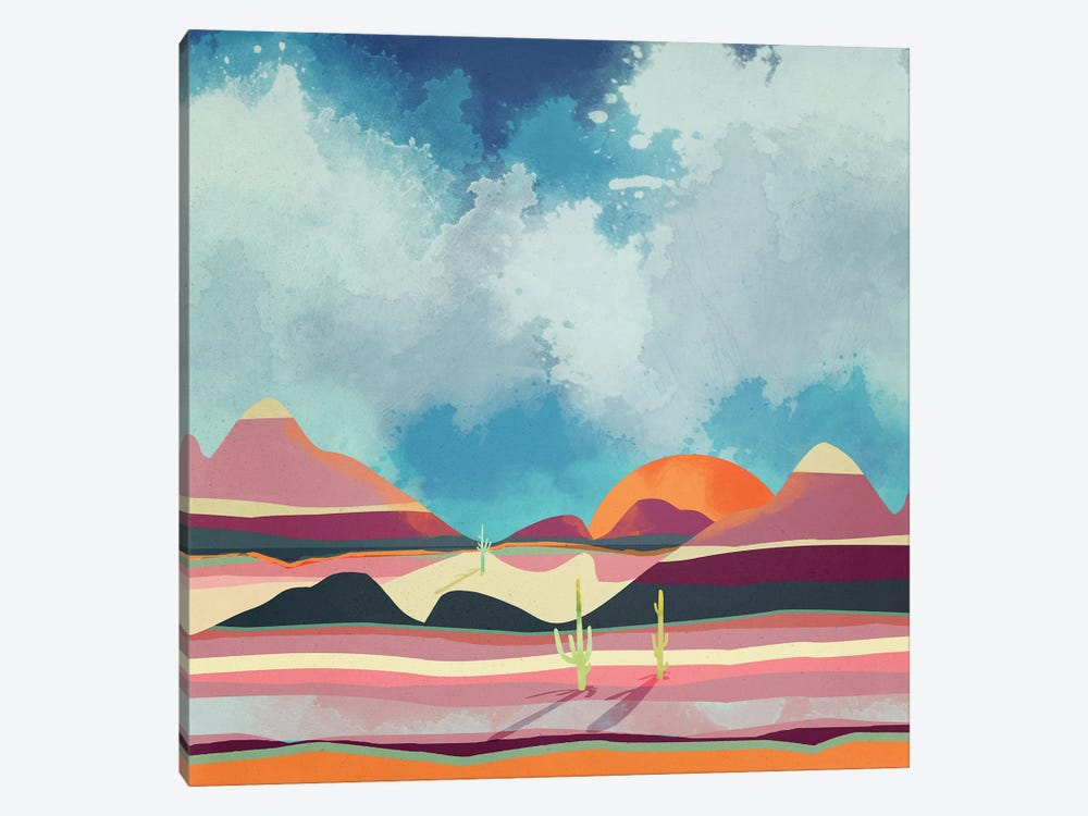 Pink Desert Glow by SpaceFrog Designs 1-piece Canvas Art