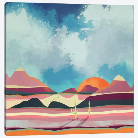 Pink Desert Glow Canvas Print #SFD85} by SpaceFrog Designs Canvas Wall Art